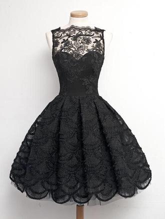 dress black dress lace dress cute dress vintage dress