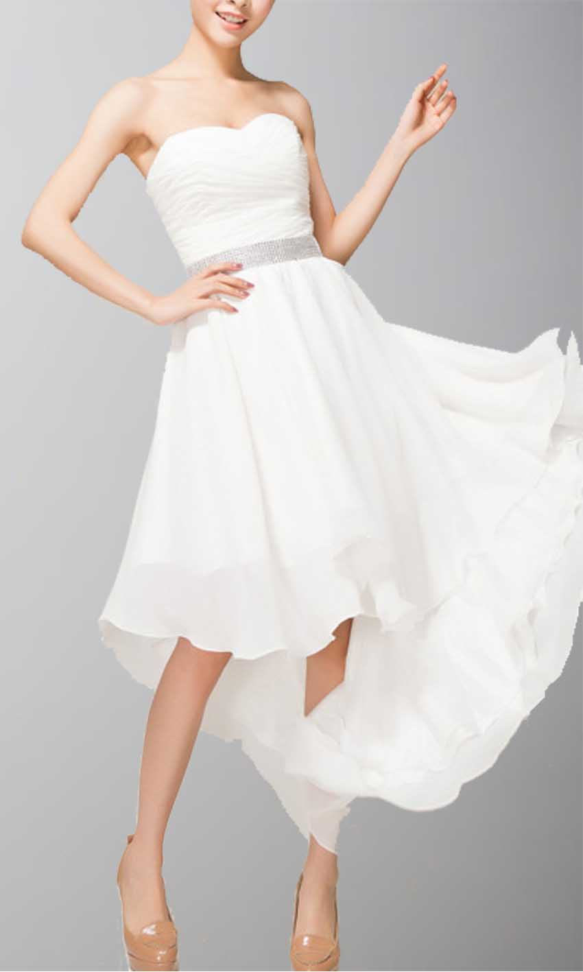 White Strapless Sweetheart Beaded High Low Homecoming KSP101 [KSP101] - £93.00 : Cheap Prom Dresses Uk, Bridesmaid Dresses, 2014 Prom & Evening Dresses, Look for cheap elegant prom dresses 2014, cocktail gowns, or dresses for special occasions? kissprom.co.uk offers various bridesmaid dresses, evening dress, free shipping to UK etc.