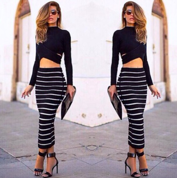 4bfd74f5ba2 dress summer lace black white skirt top shirt crop tops party outfit tumblr  internet vogue chanel