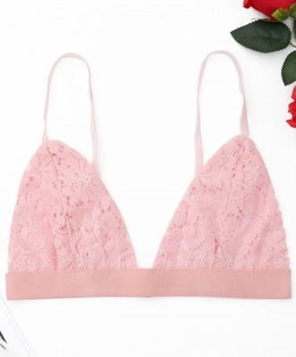 underwear girly pink lace lace lingerie bralette