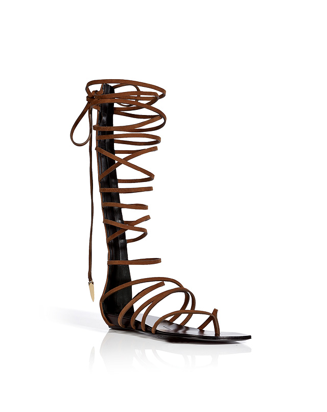 Pointed Toe Flat Lace Up Gladiator Sandal from GIUSEPPE ZANOTTI | Luxury fashion online | STYLEBOP.com