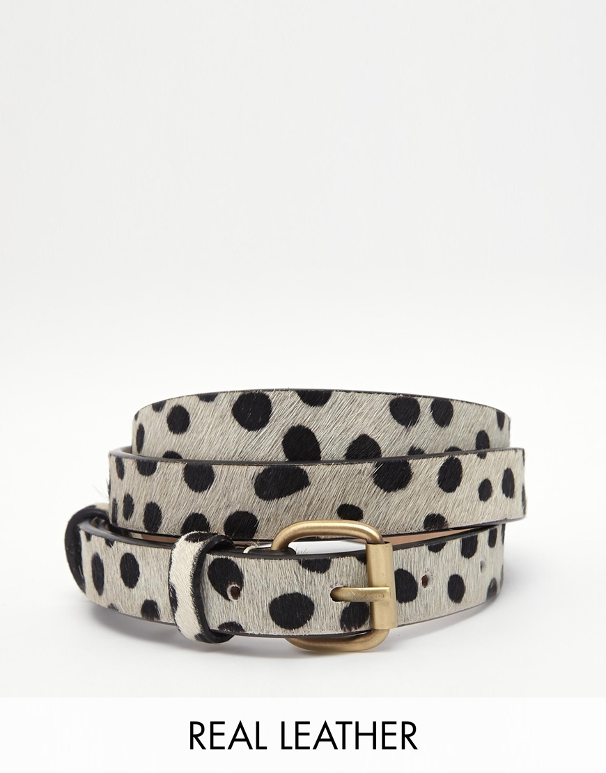 Jack wills leather belt in animal print at asos.com