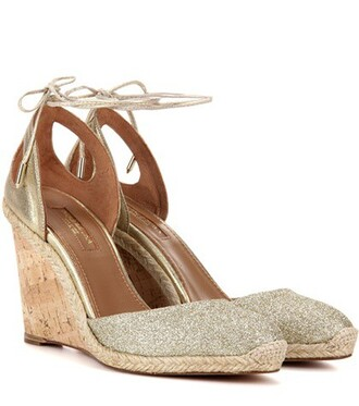 glitter beach metallic sandals wedge sandals leather gold shoes