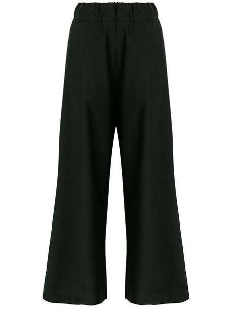 women spandex black wool pants