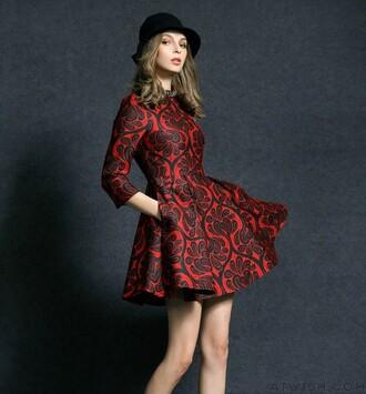 dress printed dress slim dress beaded dress elegant