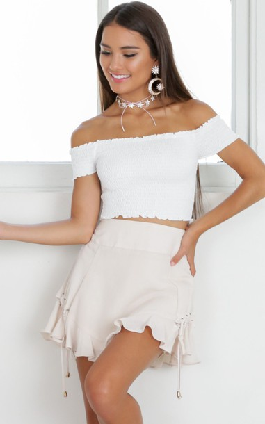 top white ripped straplessc crop tops summer top ribbed rop
