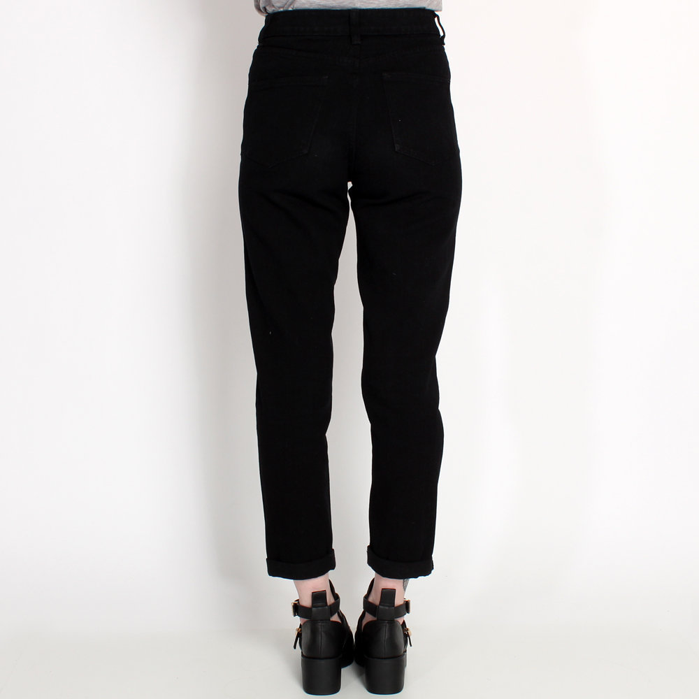 Ark for Women Ark Black Rip Mom Jeans