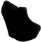 Womens high wedge platform suede ankle shoe boots