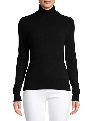 Lord & Taylor Women's Cashmere Turtleneck Sweater - Ebony - Size XS