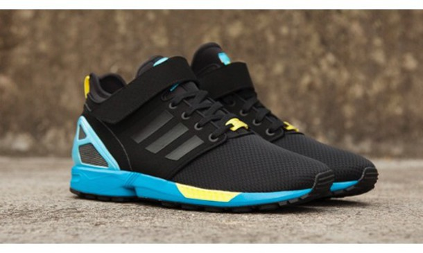 5382c38c2cfb shoes adidas zx flux high top sneakers black blue