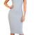 Glamorous Grey Ribbed Midi Dress   Emprada
