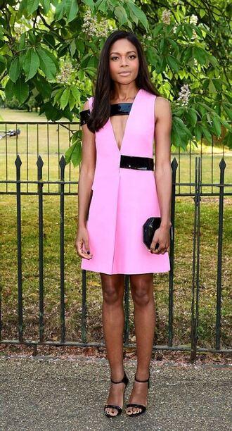 dress pink naomie harris sandals summer dress