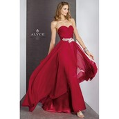 dress,crystal quartz,long sleeves,alyce paris,sheer,black dress
