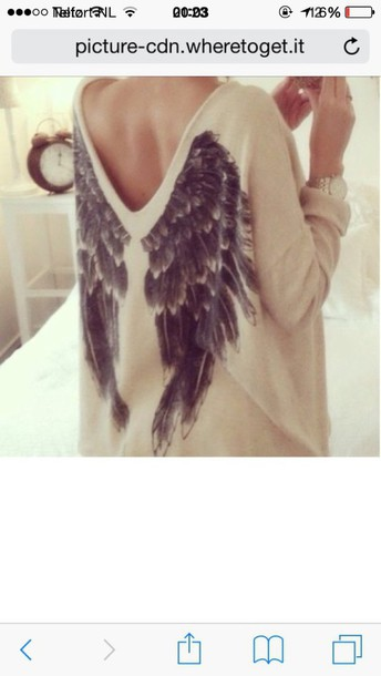 shirt wings style wings on the back fly clothes sweater t-shirt