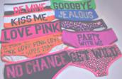 underwear,panties,victoria's secret,quote on it,girly wishlist,pink by victorias secret