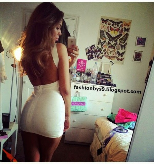 white dress open in back dress