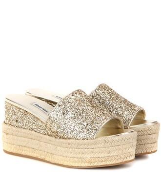 glitter sandals platform sandals gold shoes