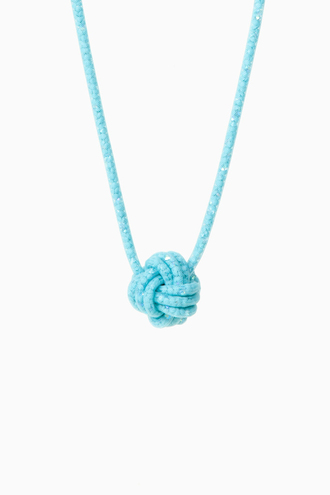 blue jewels necklace knot