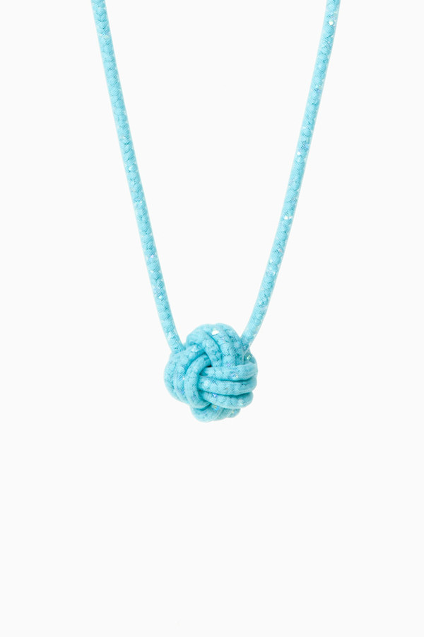 jewels jewels knot blue necklace