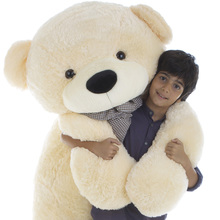 Cozy cuddles 72 inch cream life size huge teddy bear