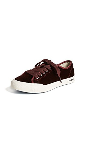 SeaVees sneakers velvet cherry shoes