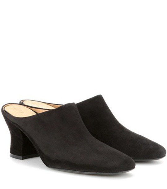 The Row Adele Suede Mules in black