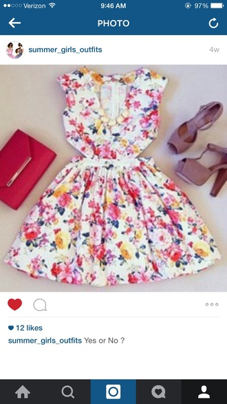dress fashion floral floral dress summer dress style summer summer outfits summer accessories cut out bodycon dress v-line neck