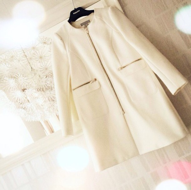 coat white jacket