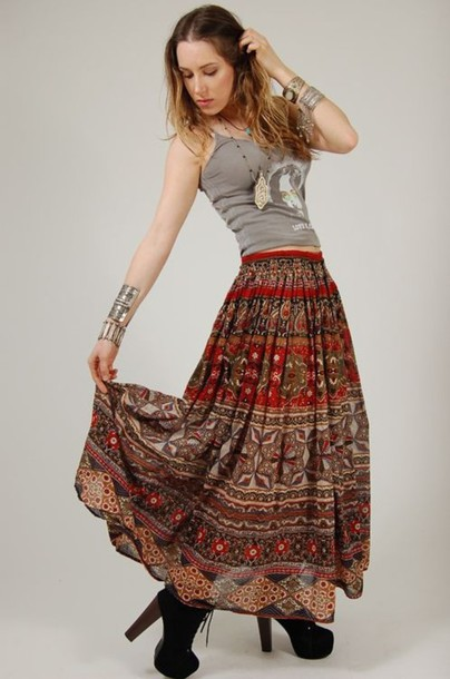 skirt gypsy gypsy skirt boho boho skirt shoes boho bohemian long skirt