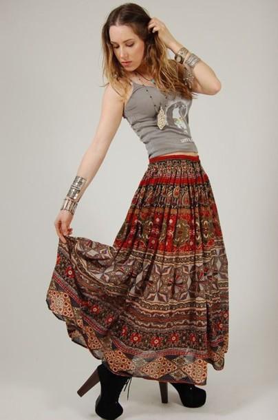 skirt gypsy gypsy skirt boho boho skirt shoes