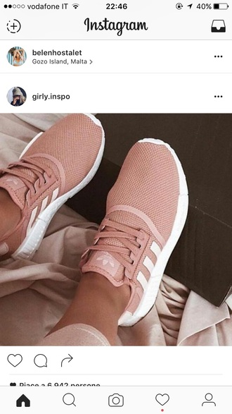 shoes adidas pink love trainers fashion women