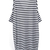 Black White Striped V Neck Loose Dress - Sheinside.com