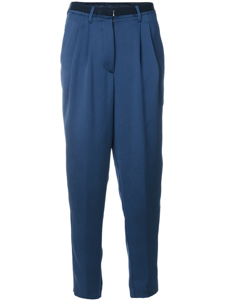 pants loose pants loose high waisted high women blue