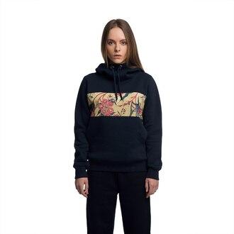 sweater hoodie printed hoodie womens hoodie floral floral hoodie blue hoodie navy hoodie