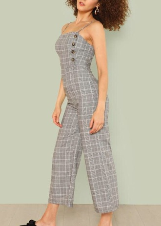 jumpsuit girly plaid gingham