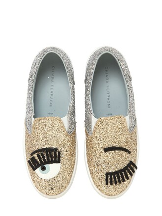 glitter sneakers gold silver shoes