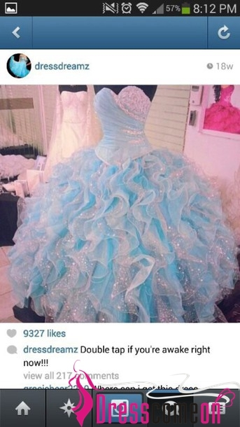 Custom ball gown sweetheart sequined organza floor length quinceanera dress · dresscomeon · online store powered by storenvy