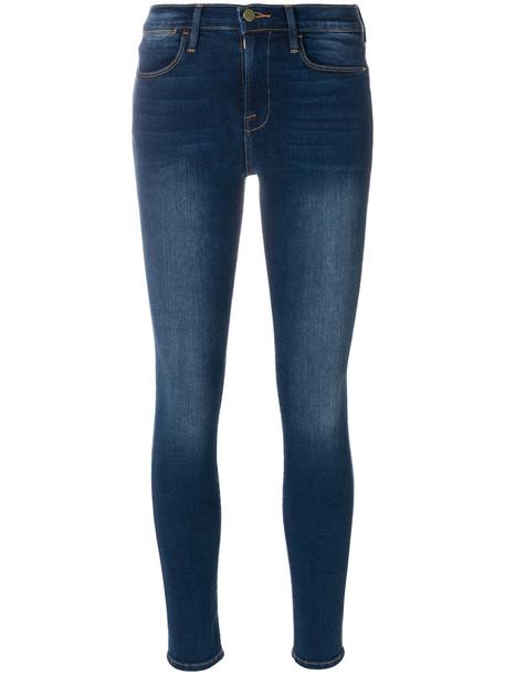 Frame Denim jeans skinny jeans women spandex cotton blue