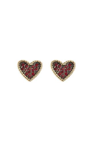 heart earrings heart embellished earrings gold jewels