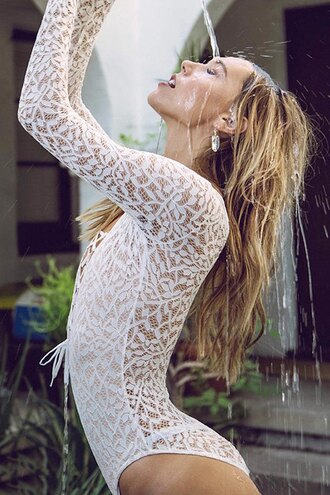 top bodysuit white long sleeves fashion trendy sexy romantic lace summer zaful