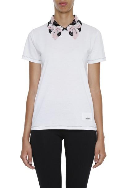 Miu Miu t-shirt shirt t-shirt lace top