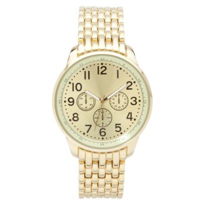 Merona® Gold Tone Extra Large Boyfriend Watch : Target