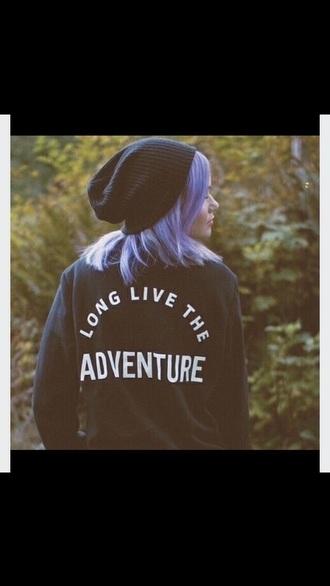 sweater black sweater adventure tumblr