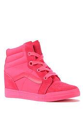 shoes,neon,vans,high top sneakers,wedge sneakers,bright sneakers