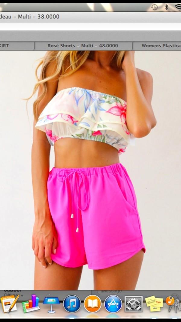 shorts pink High waisted shorts
