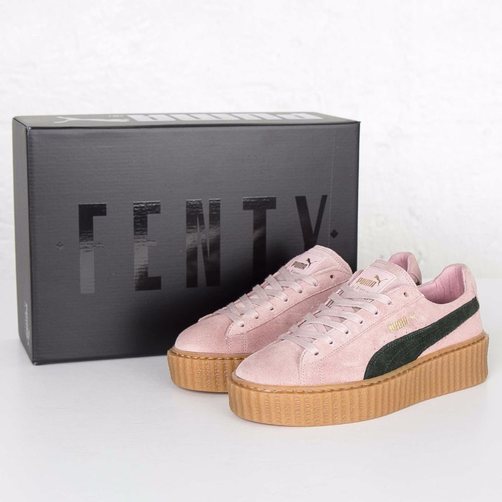 puma x rihanna suede creepers fenty coral cloud pink dirty. Black Bedroom Furniture Sets. Home Design Ideas