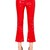 Flared Faux Patent Leather Pants W/ Zips