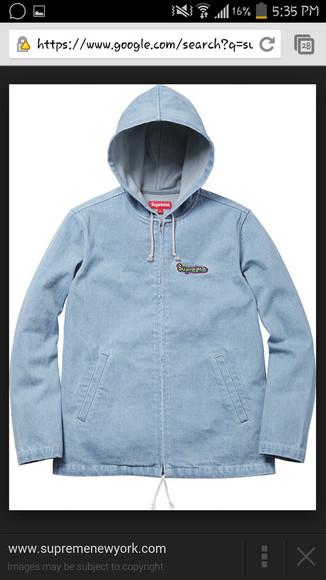 supreme jacket hoodie denim jacket