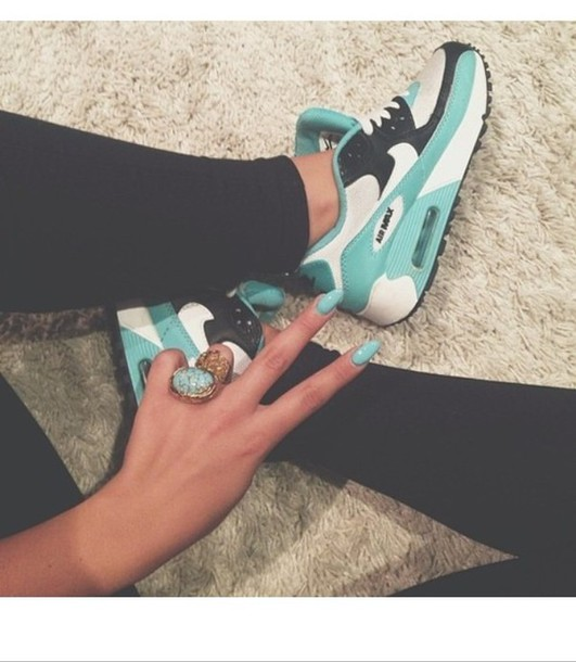 shoes blue shoes air max