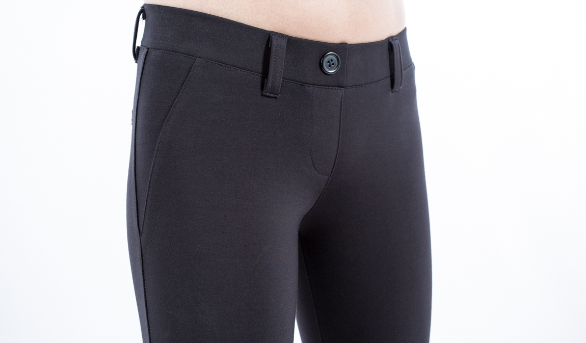 stretch black pants - Pi Pants